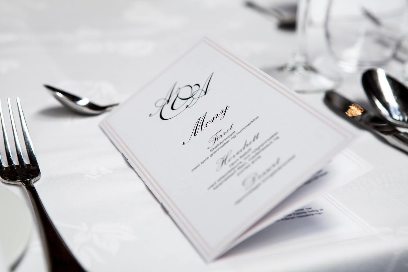 Il menu perfetto di un ristorante
