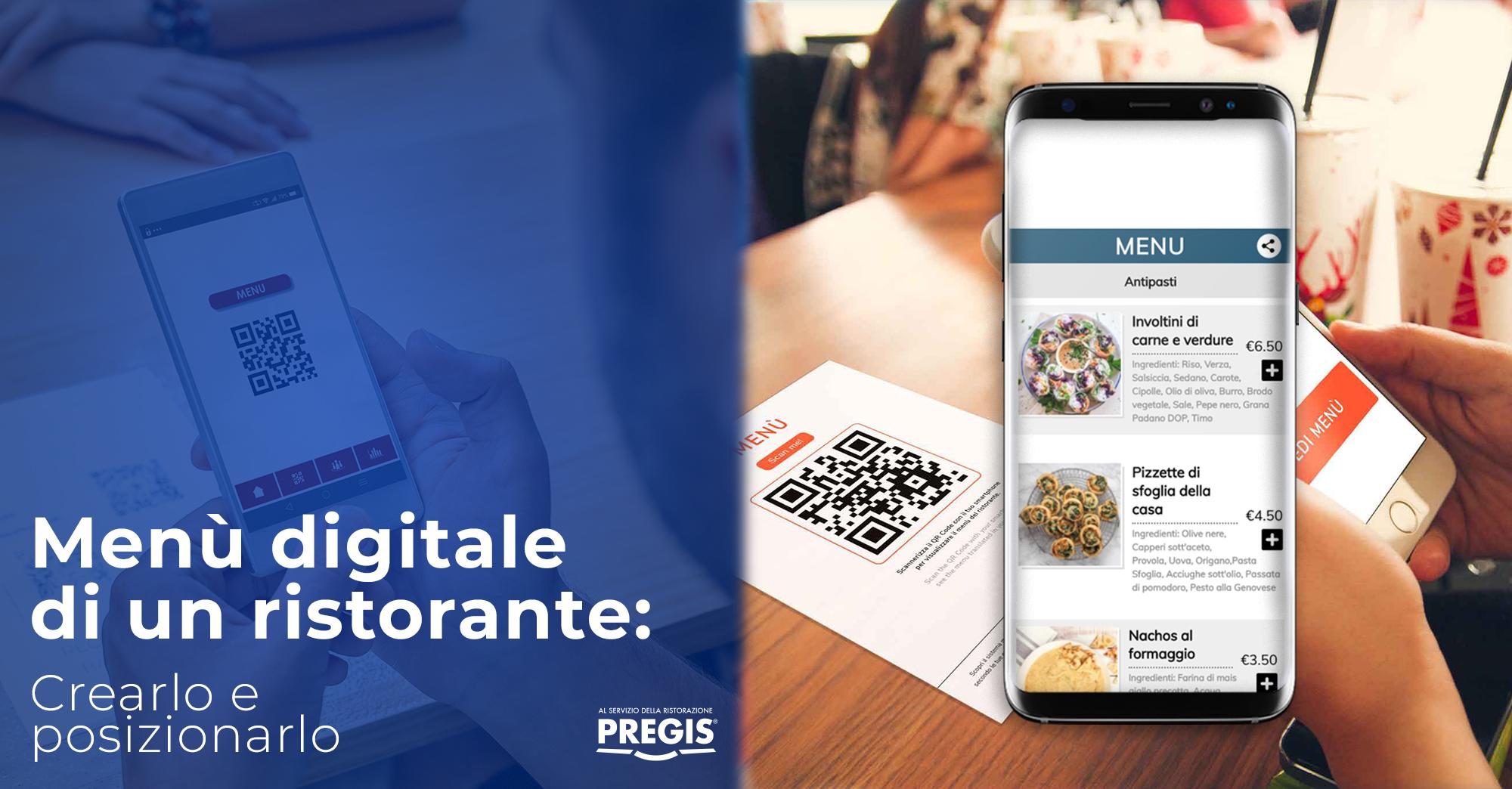 Menù digitale di un ristorante: crearlo e posizionarlo